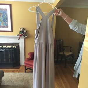 Formal taupe gown medium